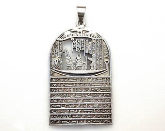 Sterling Silver Egyptian God and Goddness Pendant