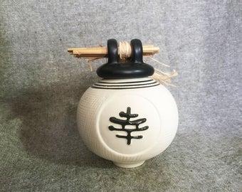 Chinese Wishing Pot Good fortune ceramic wishing pot