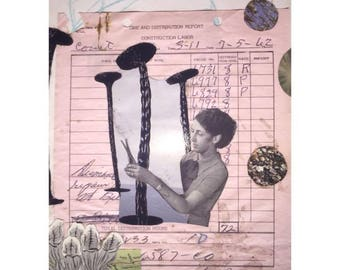 Mixed Media Vintage Collage - Nice Trim