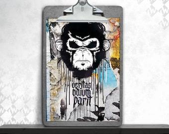 Veritas, art print, fine art print, poster, art print, urban art, monkey, street art and graffiti