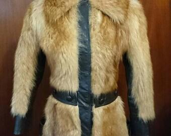 1970 Fur Leather Coat