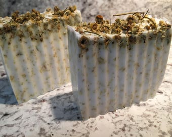 All Natural Tea Infused Chamomile Shea Butter Soap