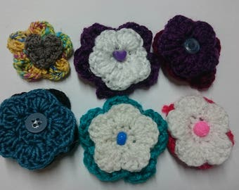 Handmade Crochet Flower Hairclip