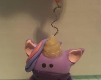 Purple Unicorn Keychain