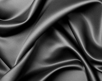 Black Silk Charmeuse