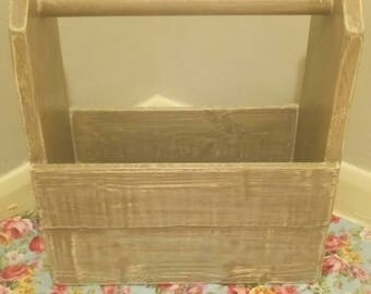 Vintage Wooden Tool Box.