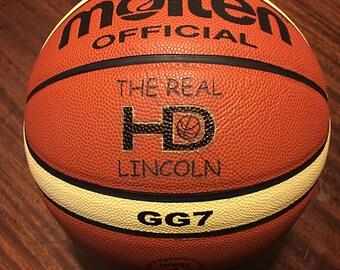 Custom Engraved Molten GG7 Basketball