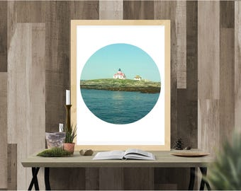 digital print, print, instant download, digital download, lighthouse, New England, Maine, landscape, Photography