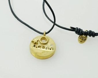 ocean pendant, statement piece
