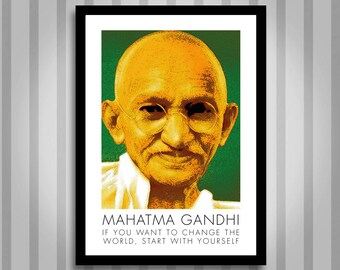 Gandhi, motivational, Inspirational, Self Development, Personal Development, Poster