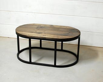 Oval Coffee Table Etsy