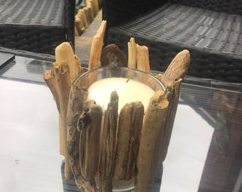 Beautiful Handcrafted Driftwood Candle Holder.