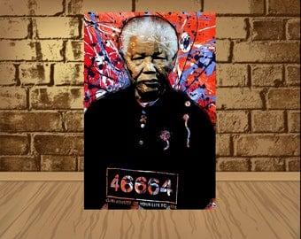Nelson Mandela Poster,Nelson Mandela Print, Nelson Mandela wotercolor,Nelson Mandela ,Nelson Mandela Art, Home Decor, Gift Idea,art,poster