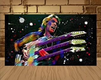 Steve Vai poster,Steve Vai art,Steve Vai print,Instrumental Rock,home decor,wall art,rock art,rock poster,rock print,Steve Vai ,Guitarist