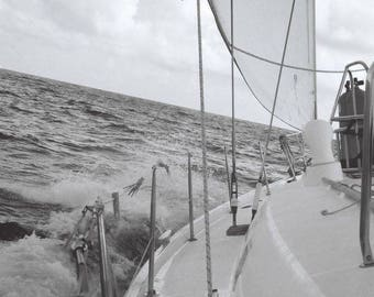 Sail boat photograph print, Beneteau sailing in the Caribbean