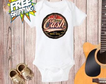 Johnny Cash Outfit, Johnny Cash Onesie®,Baby Rock N'Roll, Baby Shower Gift, Baby Shower Rock, Newborn Bodysuit, Cool Baby, Funny Baby Onesie