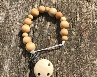 Wood Pacifier Clip // Soother Clip // Dummy Clip