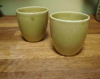 Russel Wright American Modern Chartreuse Tumblers (2), Mint Condition