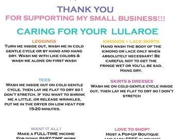 LULAROE CARE CARD