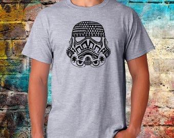 Storm trooper Tshirt, Tribal shirt, starwars tee, starwars, Funny Tshirt, candy skull, tattoo print, mens womens sizes, worldwide shipping
