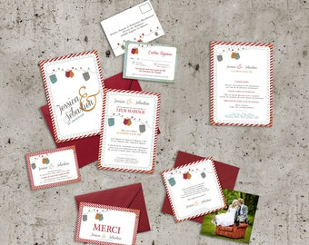 Musette wedding invitations