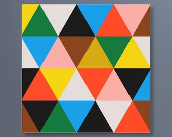 Eames Triangles Canvas