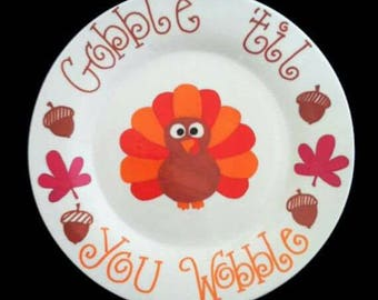 Gobble till you wobble Plate