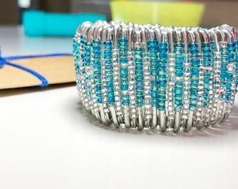 Beaded Bracelet Safety Pin Bracelet