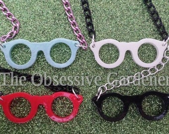 Novelty Glasses Bib Style Necklace Funky Choice of Colours