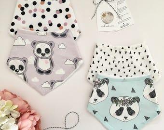 Panda Dribble Bib Gift Set