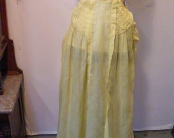 Original Victorian/Edwardian Cotton Skirt Small
