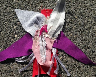 Purple-gray fabric Lily