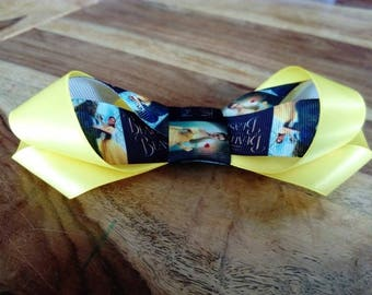 Beauty and the beast Emma Watson yellow hair bow with French barrette