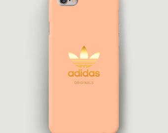 Peach iPhone 6S Case Adidas, iPhone 6 Plus Case Gold, iPhone SE Case, Adidas iPhone Case, iPhone Cover, Case for iPhone 7, Galaxy S5 Case