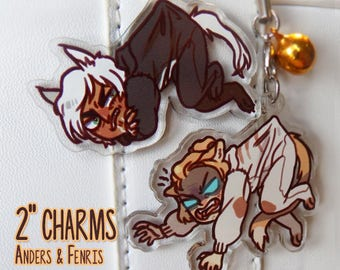 Dragon Age Anders & Fenris Charms