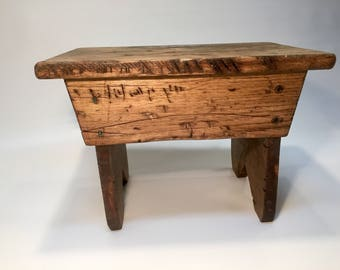 small wooden home decor primitive bench