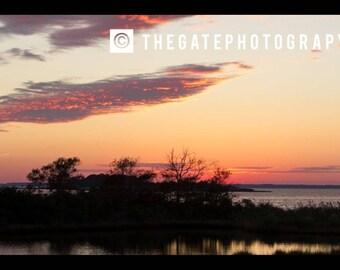 Ocean, Sound, Sunset, Maryland, Assateague Island, Island, Ocean City, Maryland, Wild Horses