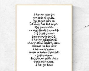I hope you dance | Sheryl Crow | Printable | 8.5x11 | 8x10