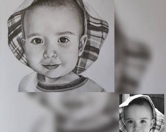 Commission: Child pencil portrait