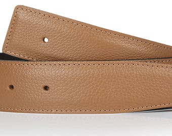 Tan reversible leather belt men and women in 1.57 inches belt in Brown for men and women in 4 cm
