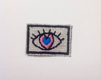 Hand Embroidered All-Seeing Eye Iron-On Patch