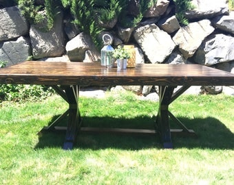 Patio Dining Table// Built to Order // Outdoor Dining Table // Solid Wood Dining Table