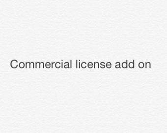 Commercial license add on for single image