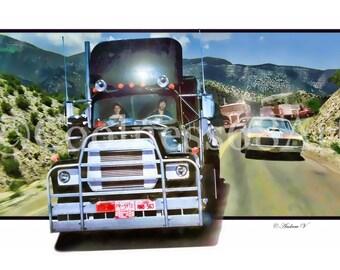 Convoy 3D Style Original Art Print