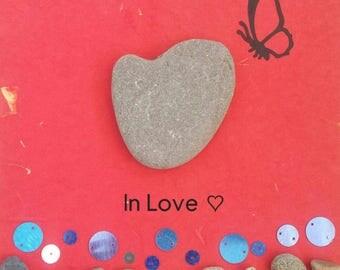 Pebble art - In Love