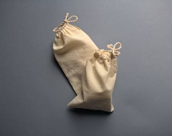 Calico Regular Pouches (Set of ten) / Perfect for storage purposes / Gift / Jewellry / Beads & Buttons / Handmade