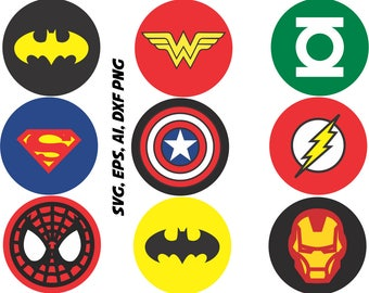 superhero logo etsy. Black Bedroom Furniture Sets. Home Design Ideas