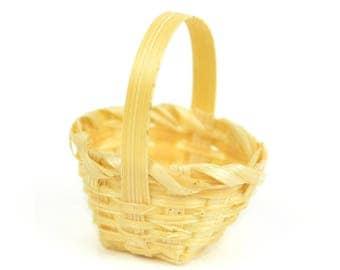Mini Basket - 1.5 Inches - Miniature Fairy Garden Dollhouse
