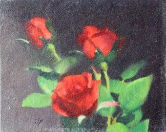 Roses Floral Painting Realist Flowers Chiaroscuro Realist Painting Beautiful Roses Roses Roses ROSES Rose Rose Rose Rose Painting Art Art