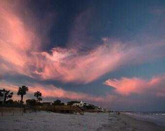 Sunset Over Pawley's Island South Carolina Color Metal Print